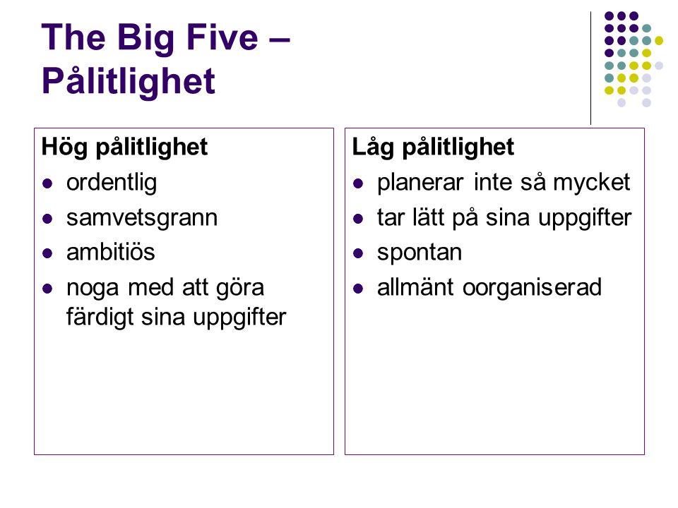 The Big Five – Pålitlighet