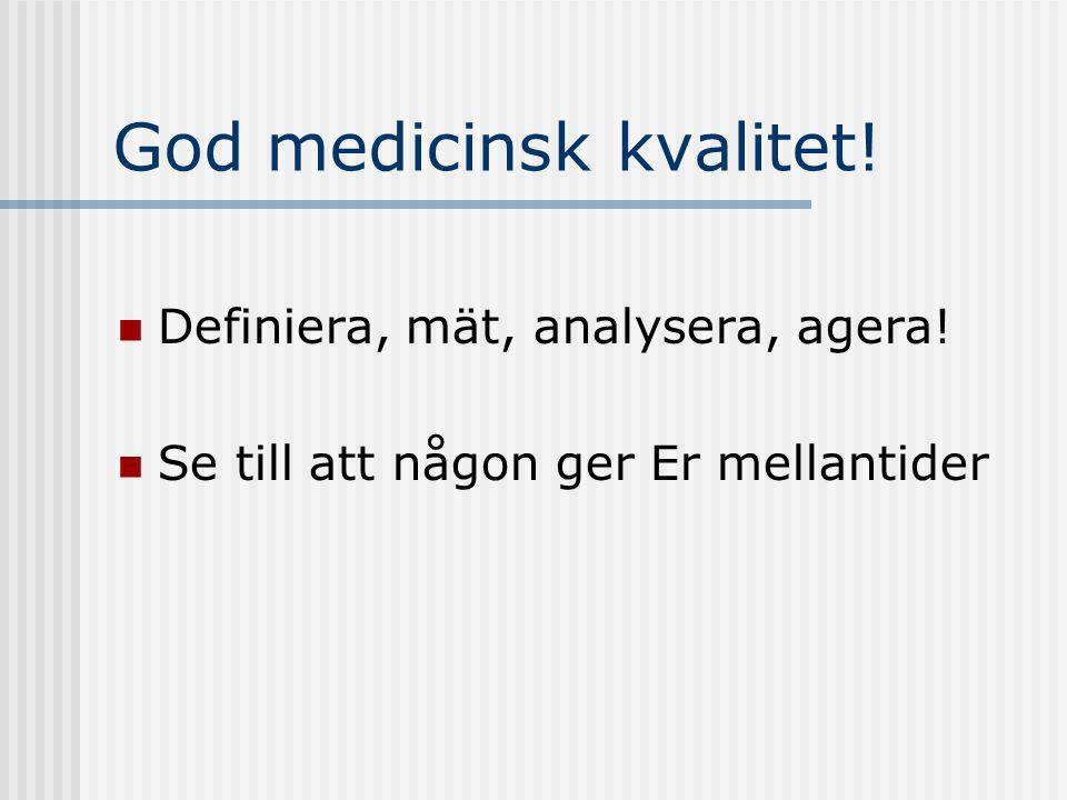 God medicinsk kvalitet!