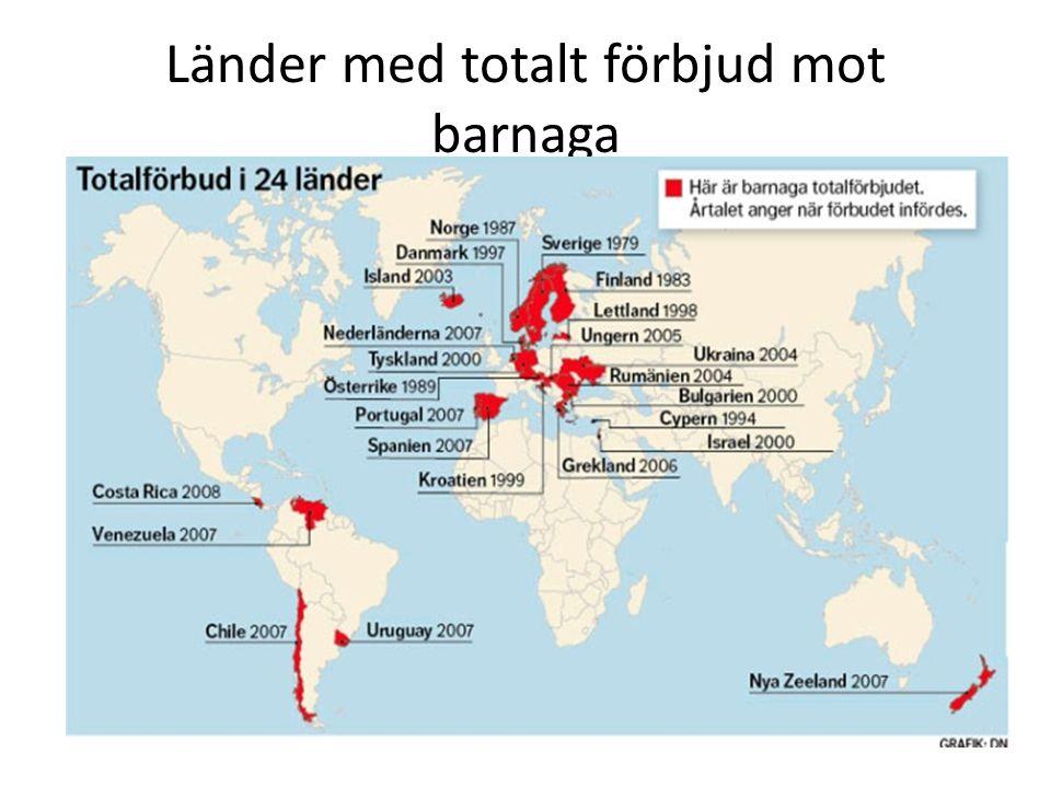 Länder med totalt förbjud mot barnaga