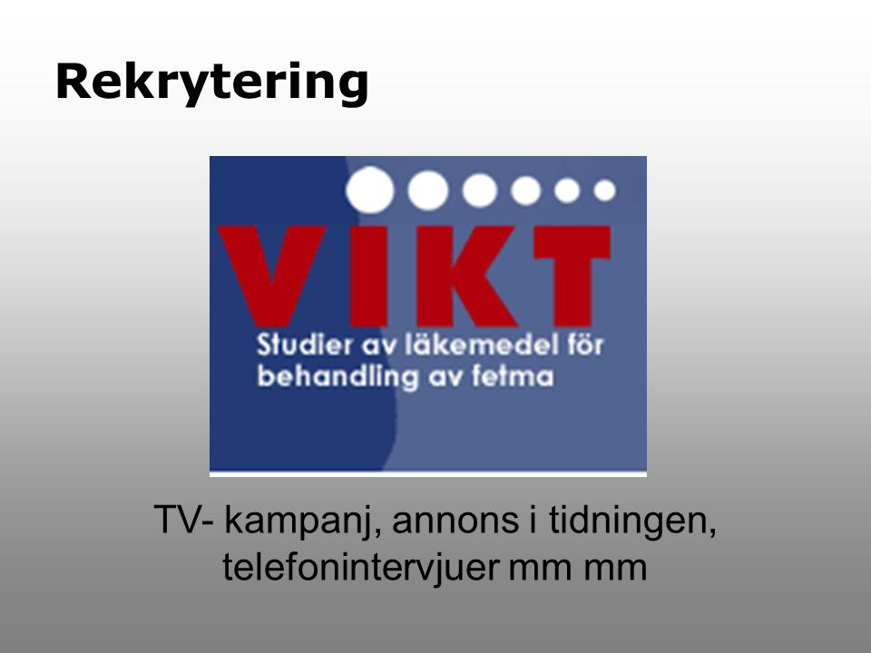 TV- kampanj, annons i tidningen, telefonintervjuer mm mm