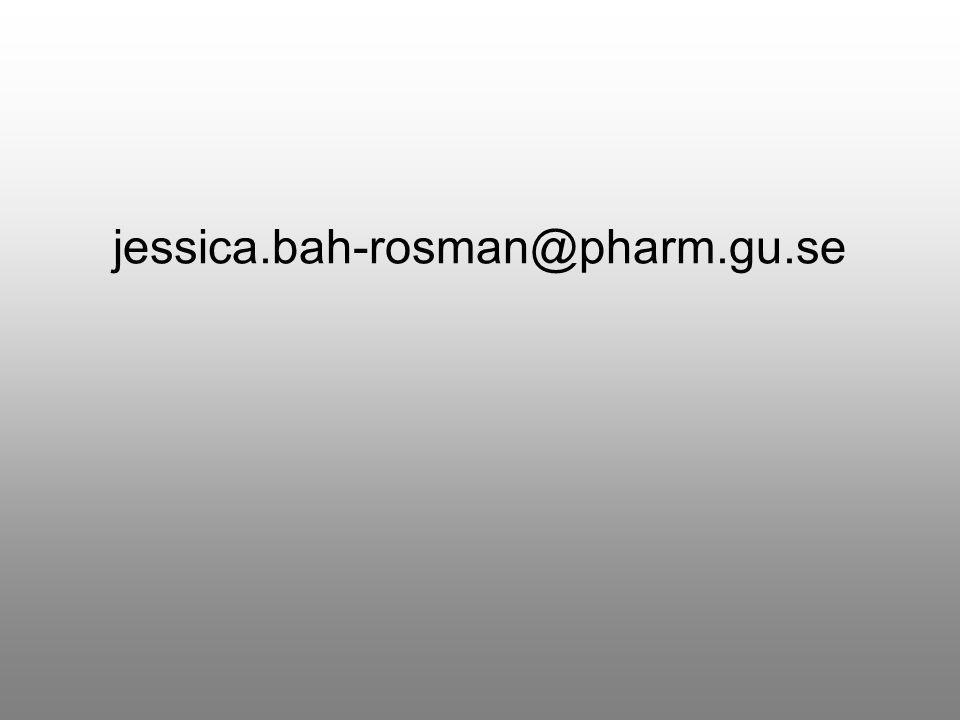 jessica.bah-rosman@pharm.gu.se Om ni vill kontakta mig så nås jag lättast på denna mailadress.