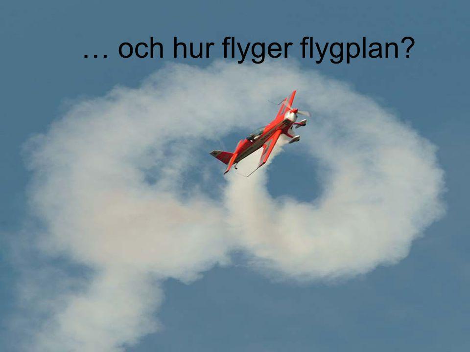 … och hur flyger flygplan