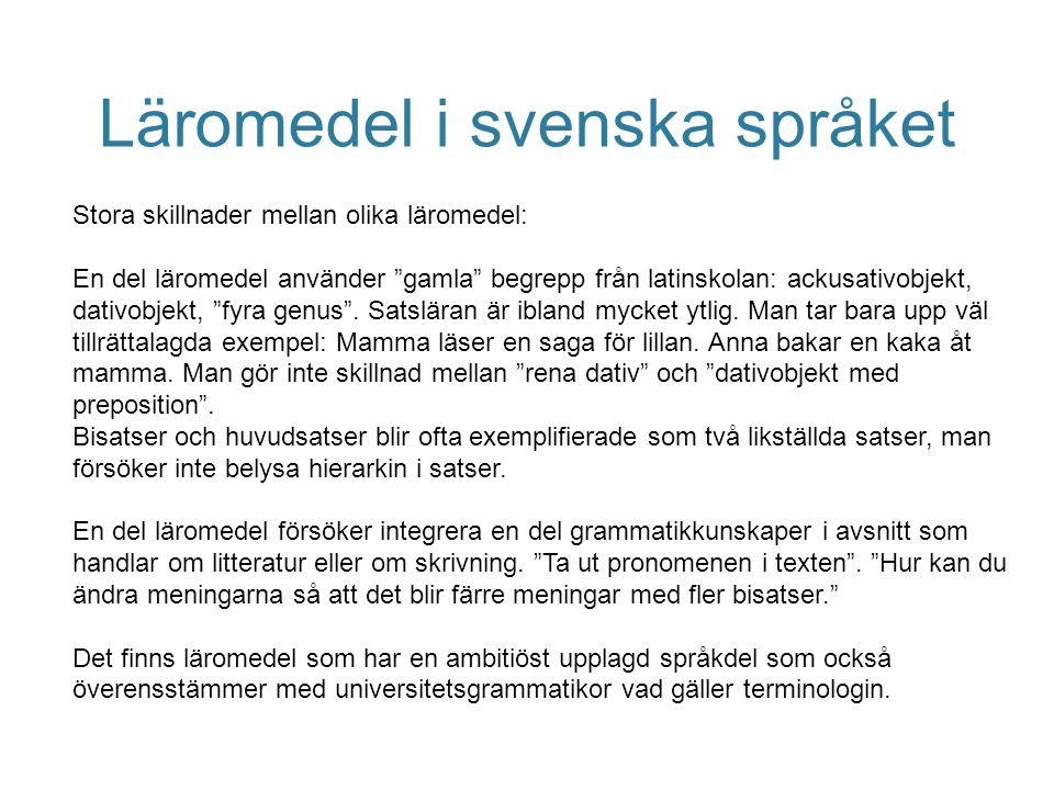 Läromedel i svenska språket