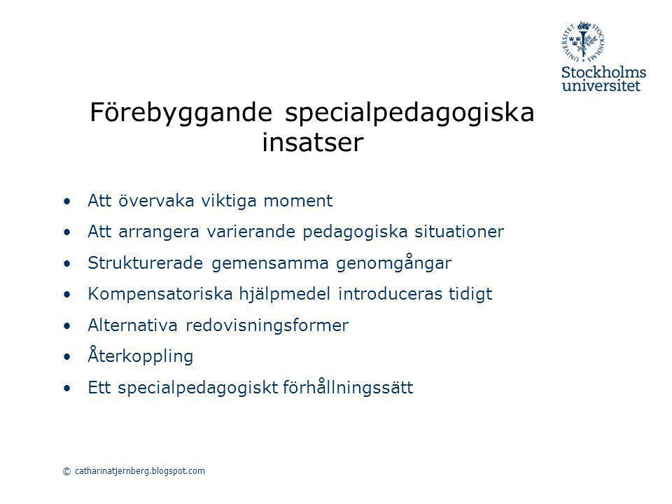 Förebyggande specialpedagogiska insatser