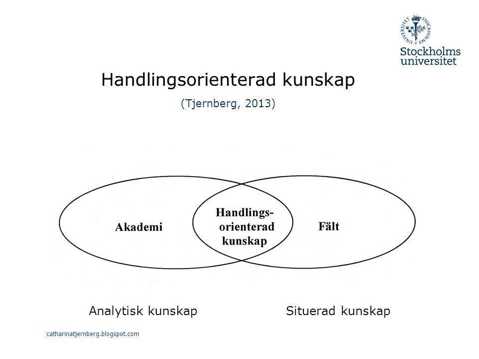 Handlingsorienterad kunskap (Tjernberg, 2013)