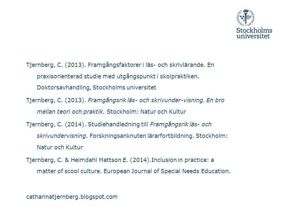 Tjernberg, C. (2013). Framgångsfaktorer i läs- och skrivlärande