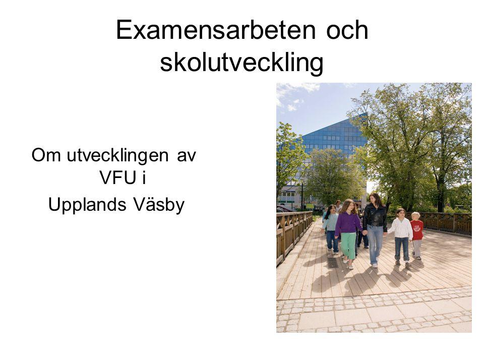 Examensarbeten och skolutveckling