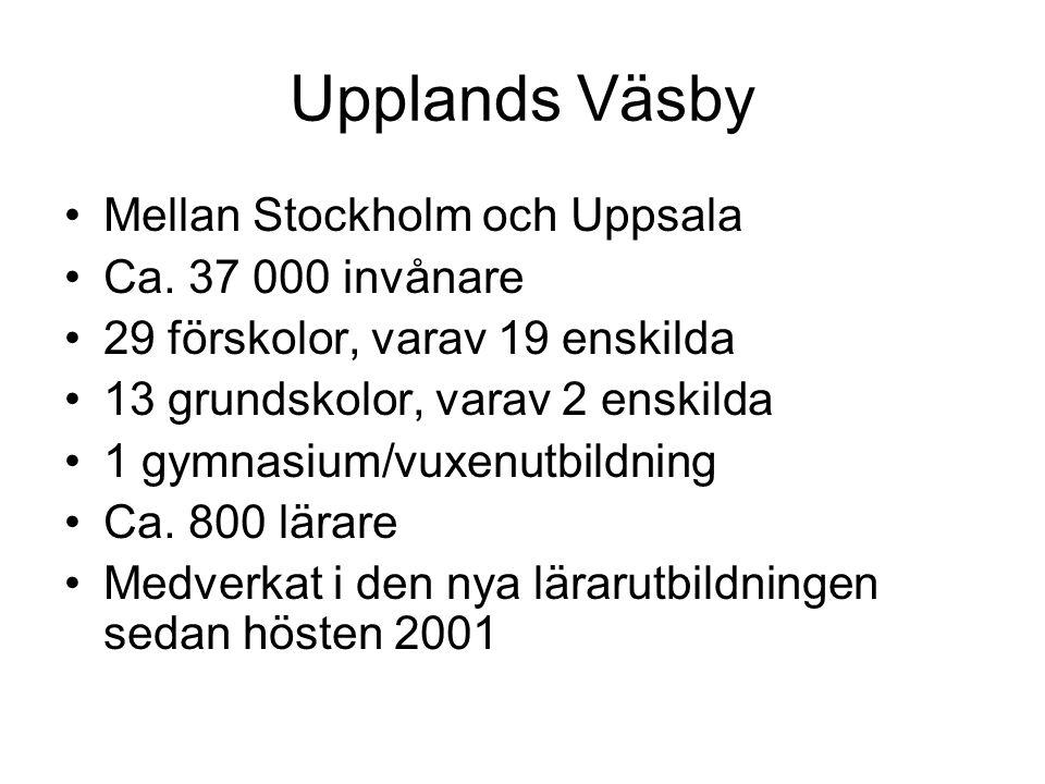 Upplands Väsby Mellan Stockholm och Uppsala Ca. 37 000 invånare