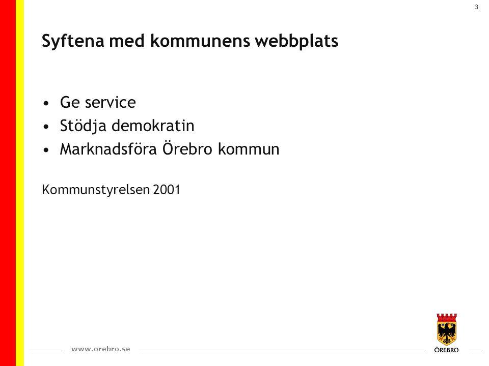 Syftena med kommunens webbplats