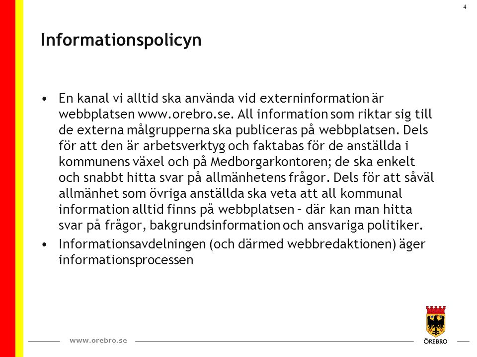 Informationspolicyn