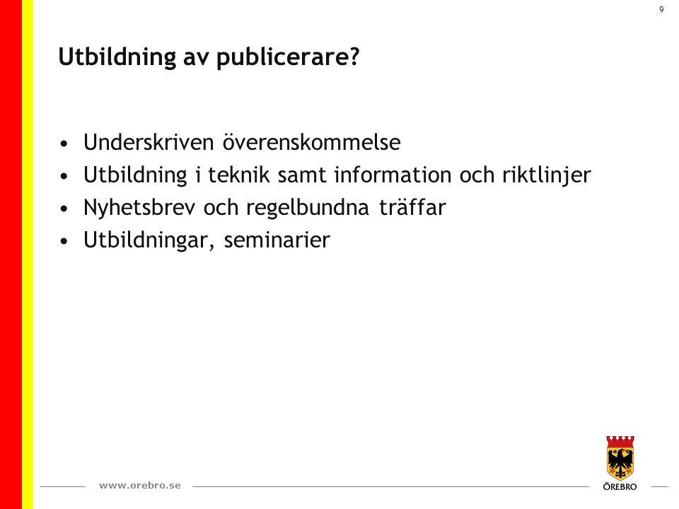 Utbildning av publicerare