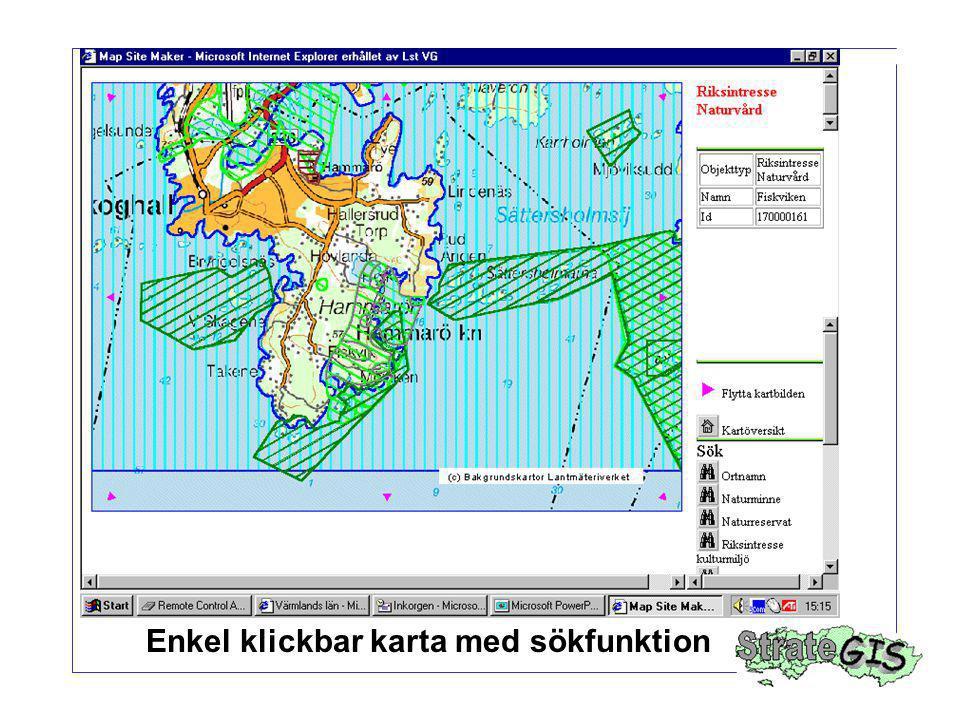 Enkel klickbar karta med sökfunktion