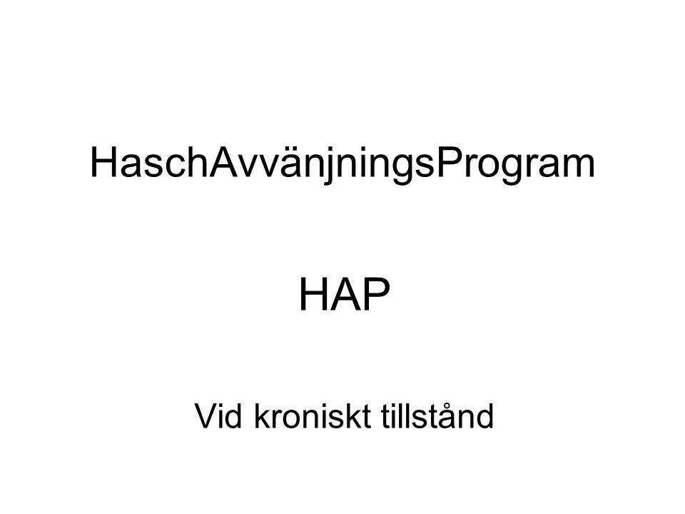 HaschAvvänjningsProgram