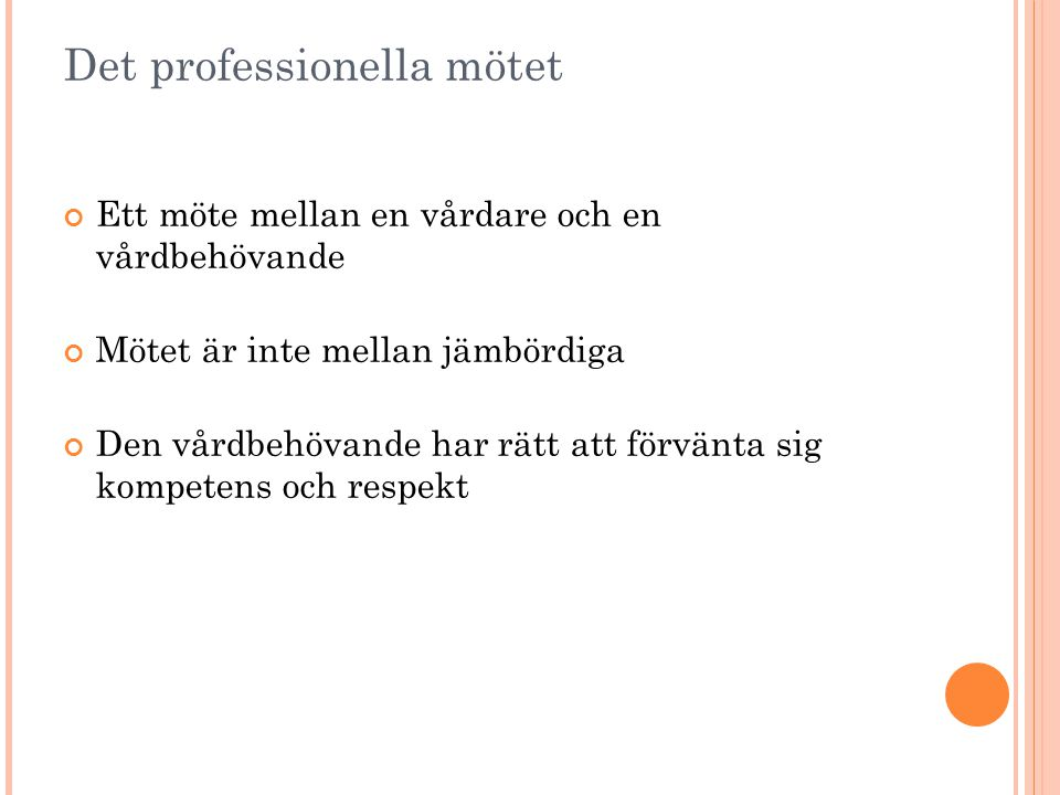 Det professionella mötet