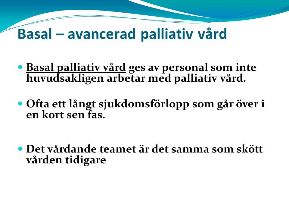 Basal – avancerad palliativ vård