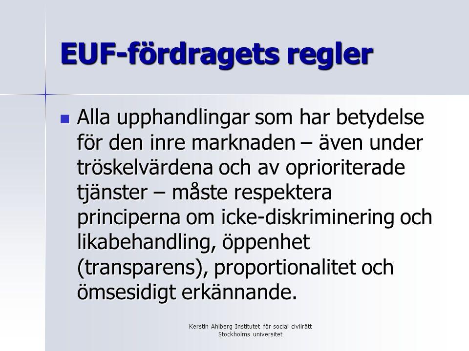 EUF-fördragets regler