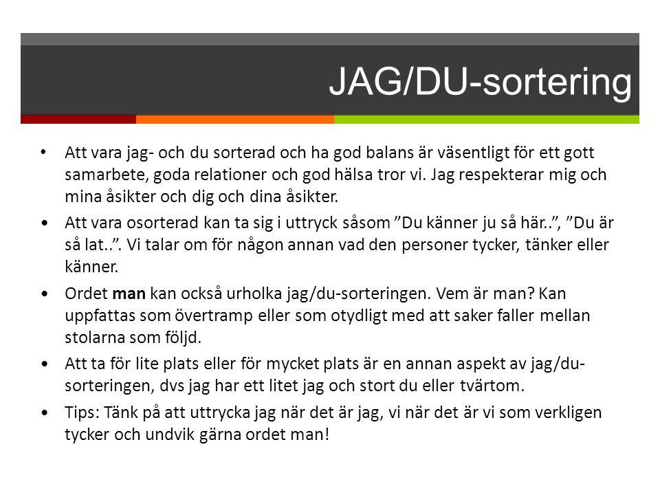 JAG/DU-sortering