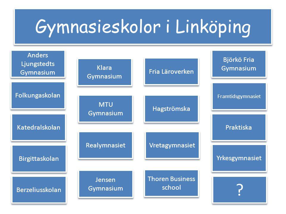 Gymnasieskolor i Linköping