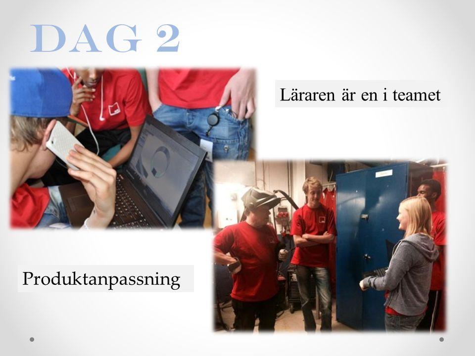 Dag 2 Läraren är en i teamet Produktanpassning