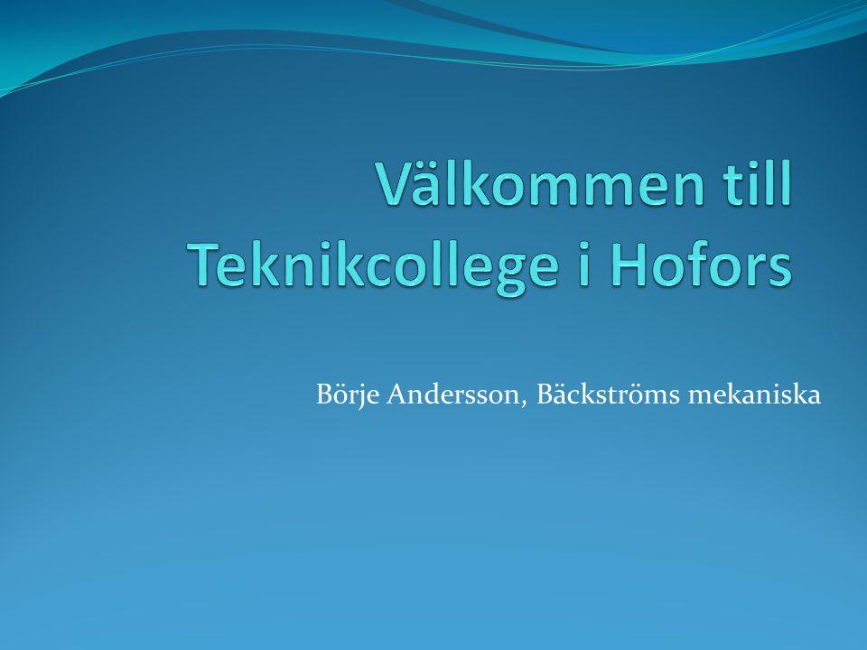 Välkommen till Teknikcollege i Hofors