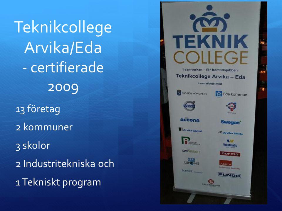 Teknikcollege Arvika/Eda - certifierade 2009