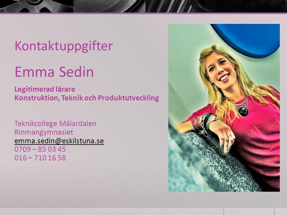 Emma Sedin Kontaktuppgifter