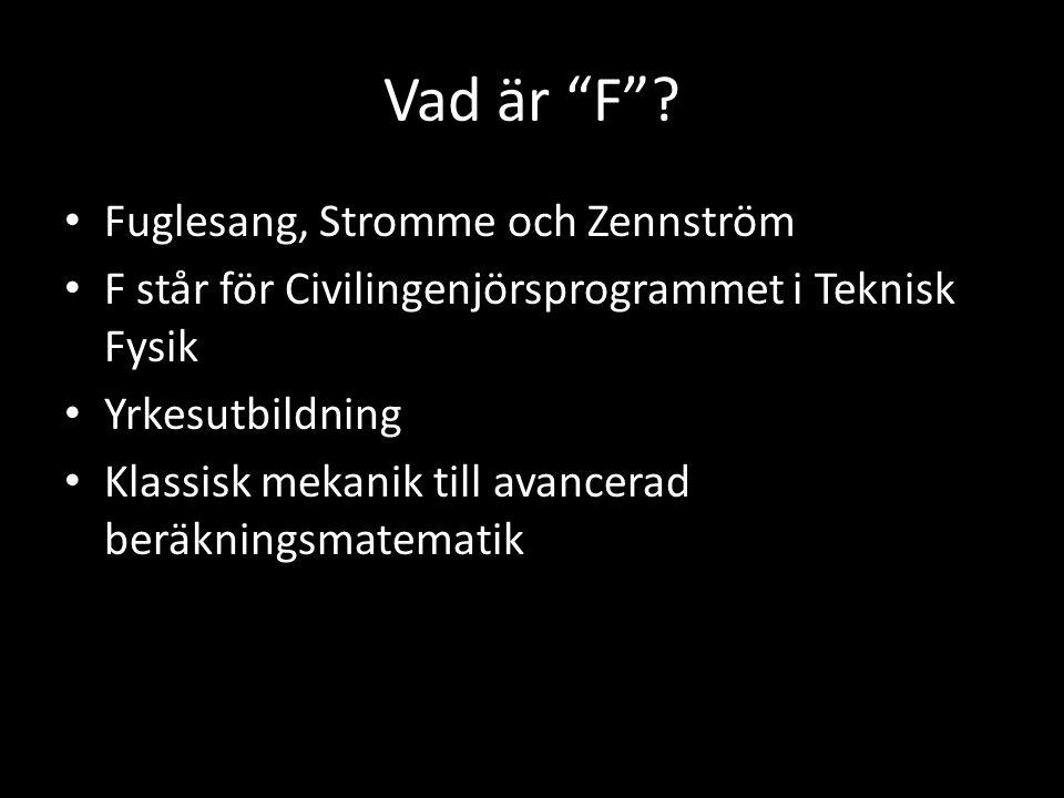 Vad är F Fuglesang, Stromme och Zennström