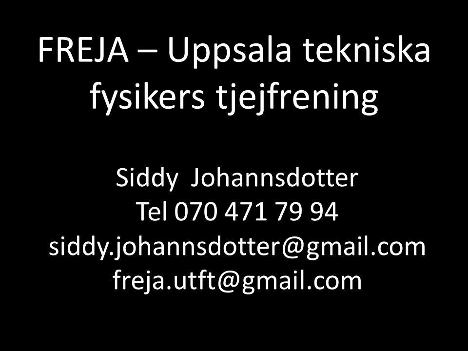 FREJA – Uppsala tekniska fysikers tjejfrening