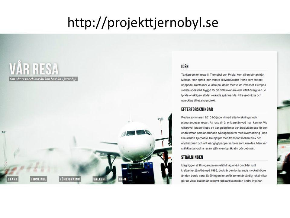 http://projekttjernobyl.se