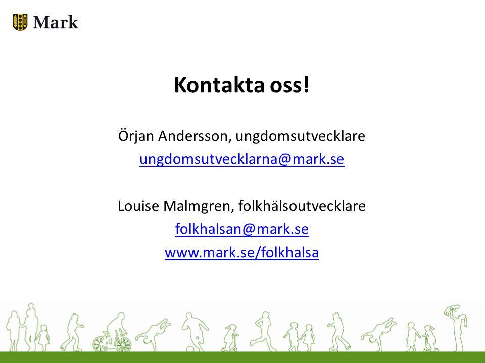 Kontakta oss! Örjan Andersson, ungdomsutvecklare