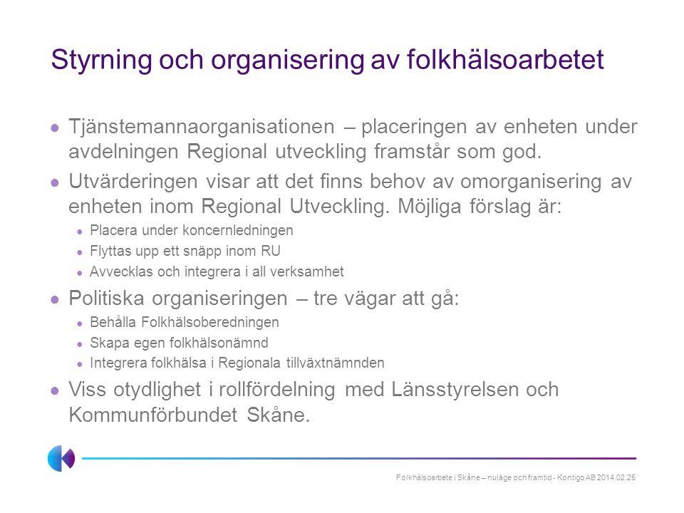 Styrning och organisering av folkhälsoarbetet
