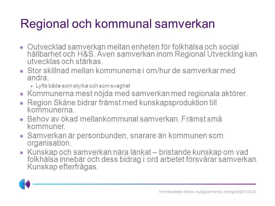 Regional och kommunal samverkan