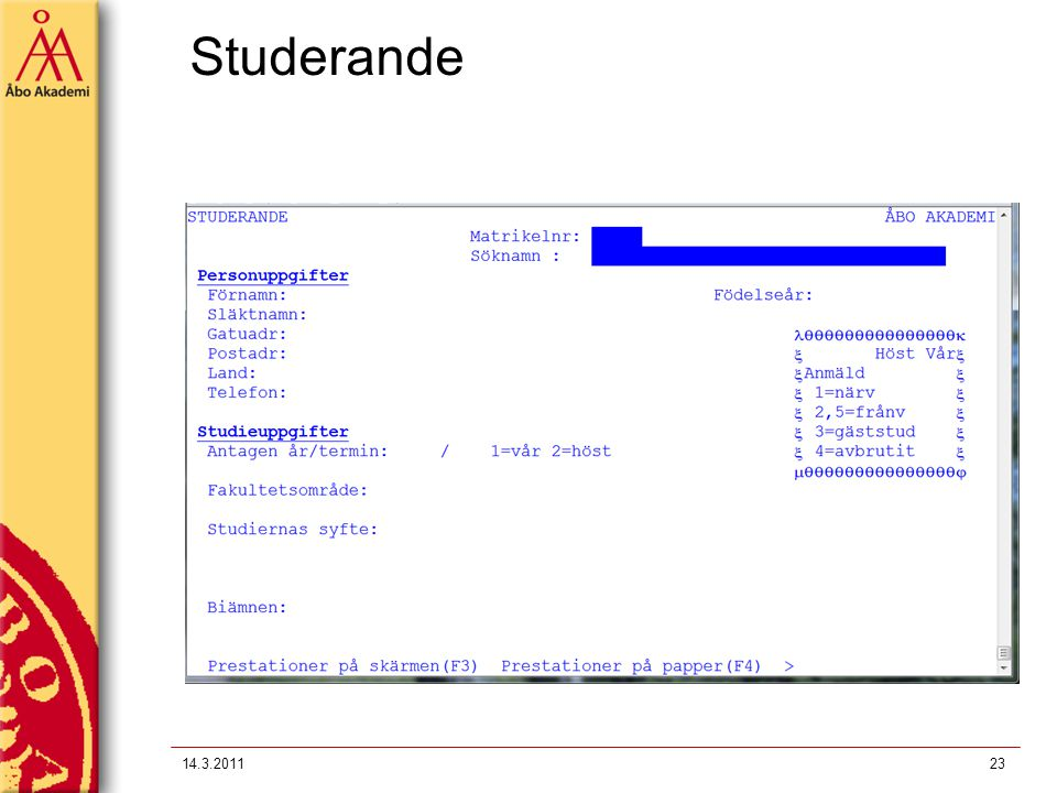 Studerande 14.3.2011