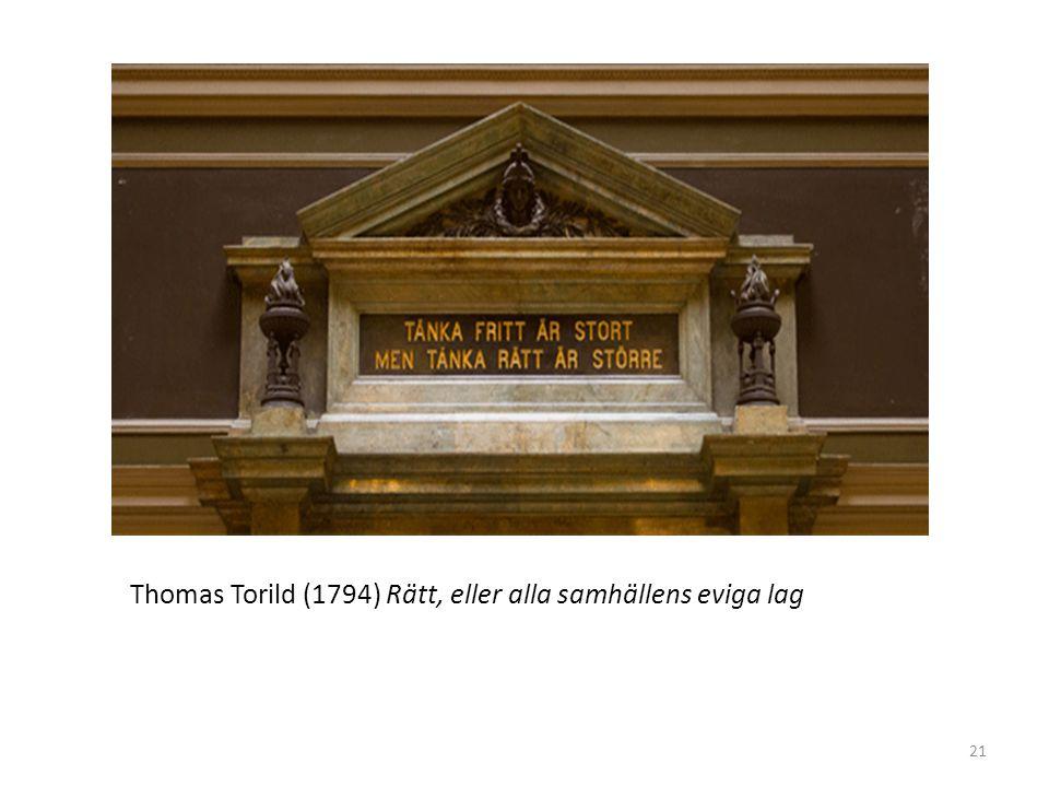 Thomas Torild (1794) Rätt, eller alla samhällens eviga lag