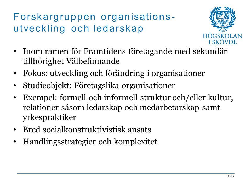Forskargruppen organisations-utveckling och ledarskap
