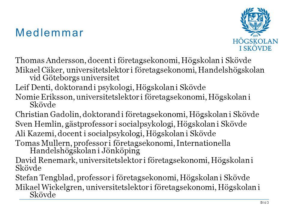 Medlemmar Thomas Andersson, docent i företagsekonomi, Högskolan i Skövde.