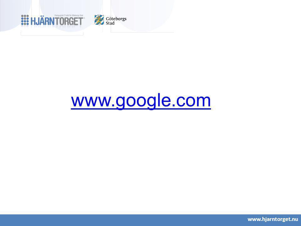 www.google.com www.hjarntorget.nu