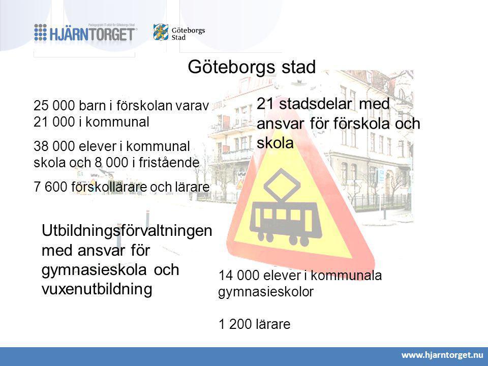 Göteborgs stad 21 stadsdelar med ansvar för förskola och skola