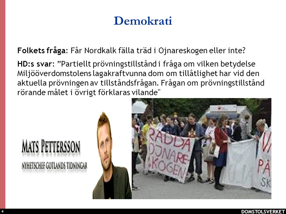 Demokrati Folkets fråga: Får Nordkalk fälla träd i Ojnareskogen eller inte