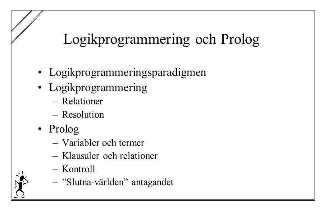 Logikprogrammering och Prolog