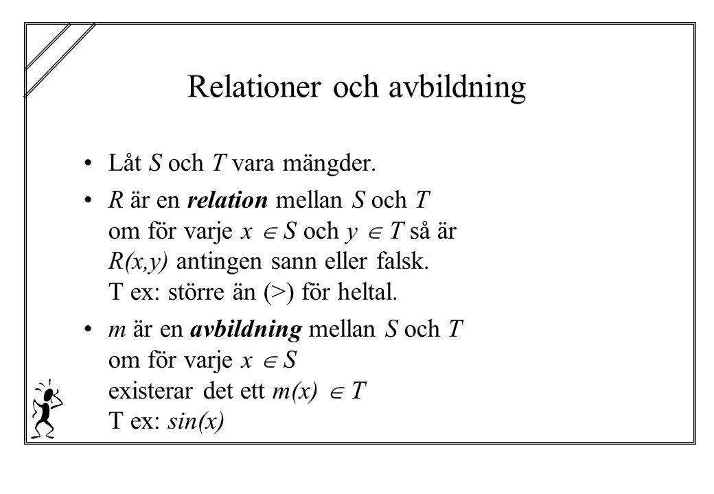 Relationer och avbildning