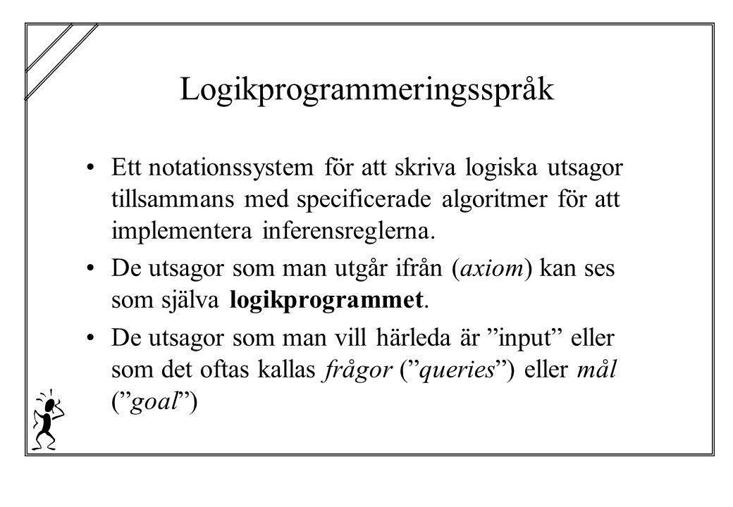 Logikprogrammeringsspråk