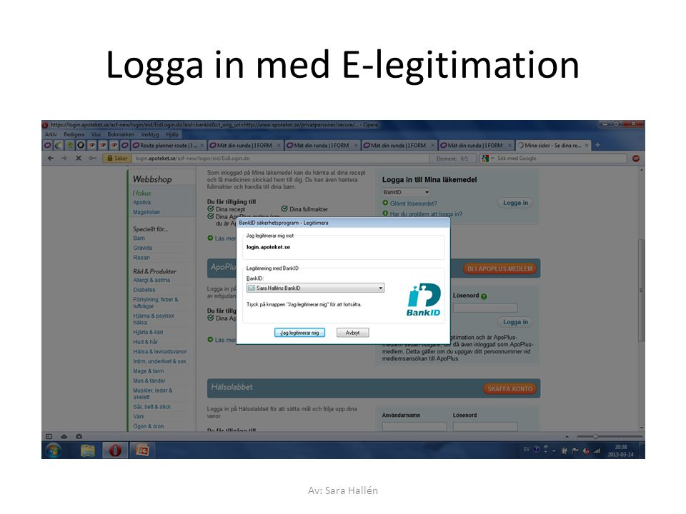 Logga in med E-legitimation