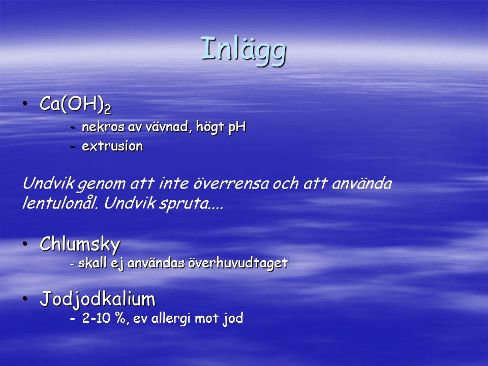 Inlägg Ca(OH)2 Chlumsky Jodjodkalium