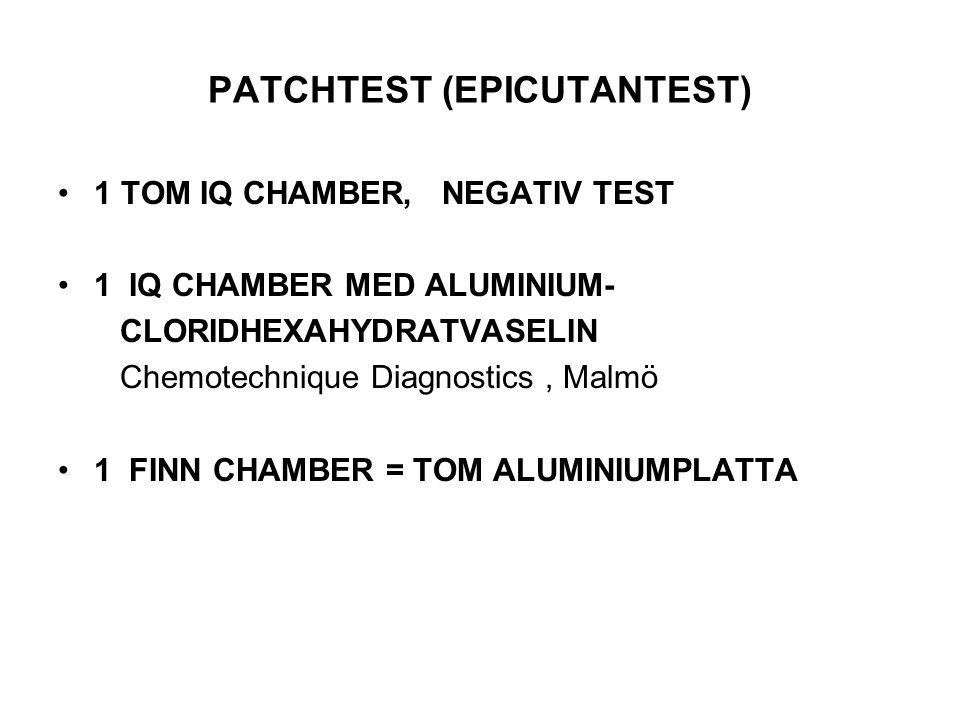 PATCHTEST (EPICUTANTEST)