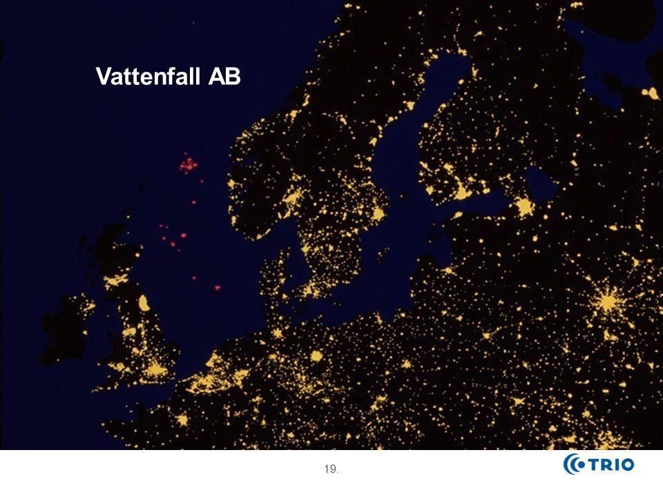 Tre Business Groups Europas 5:e största elproducent och den största värmeproducenten. Vattenfall Nordic.
