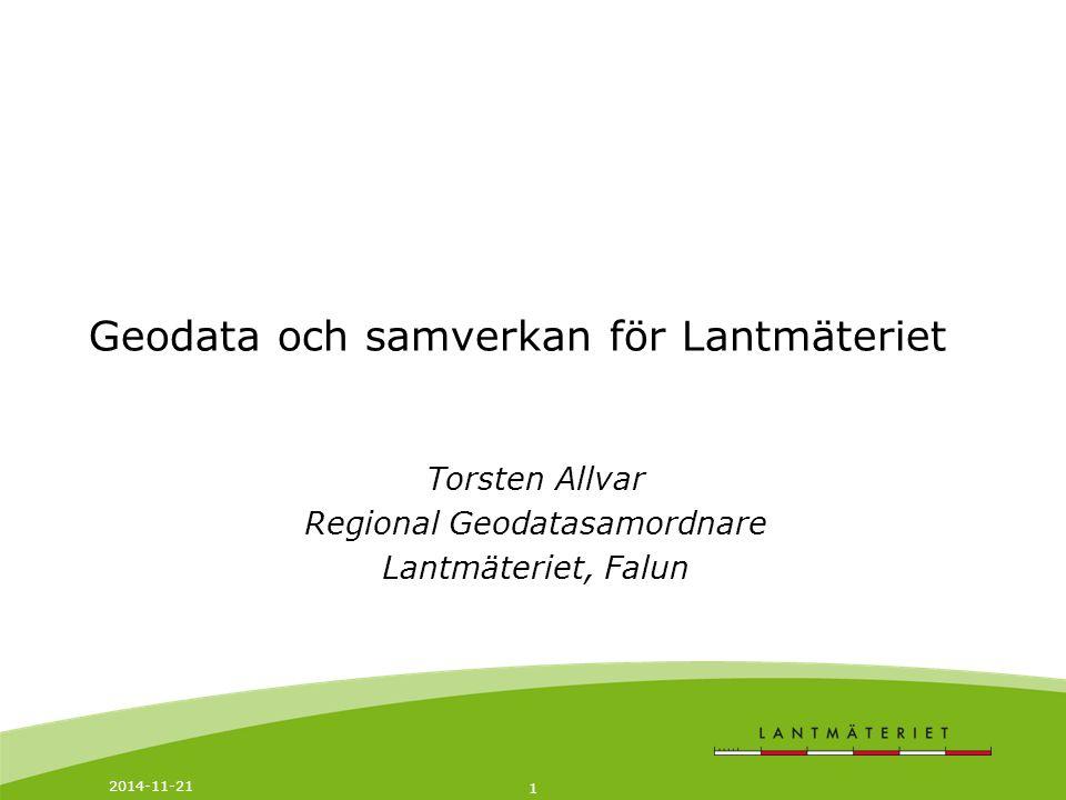 Geodata och samverkan för Lantmäteriet