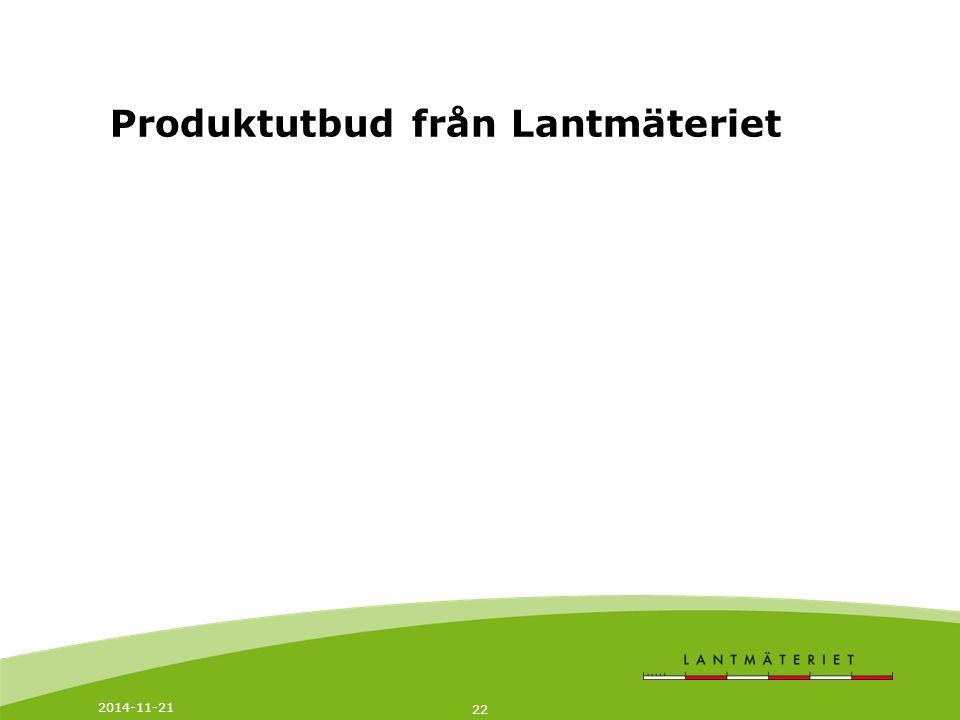 Produktutbud från Lantmäteriet