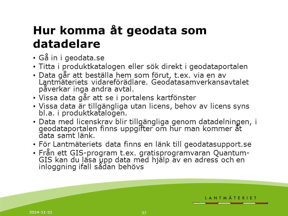 Hur komma åt geodata som datadelare
