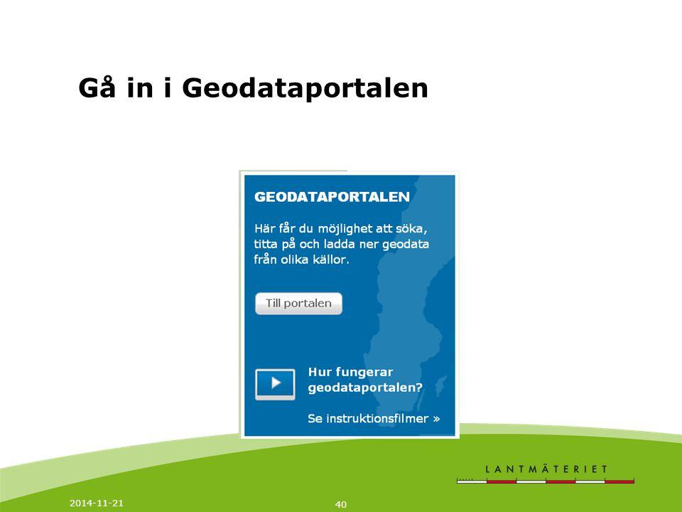 Gå in i Geodataportalen